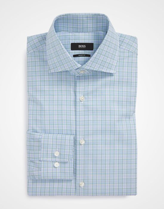 BOSS HUGO BOSS Miles Sharp Fit Plaid Dress Shirt http://www.menshealth.com/style/best-dress-shirts/slide/20