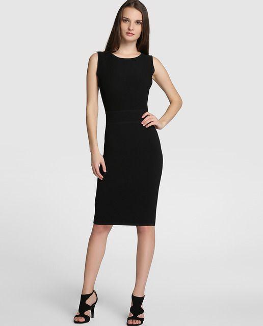 Vestido de mujer Roberto Verino de punto en color negro