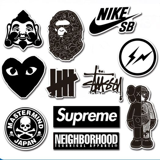 Street fashion brand sticker pack