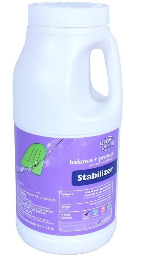 Aqua Chem 05503AQU Chlorinating Stabilizer Pool Chemical, 3 Lb