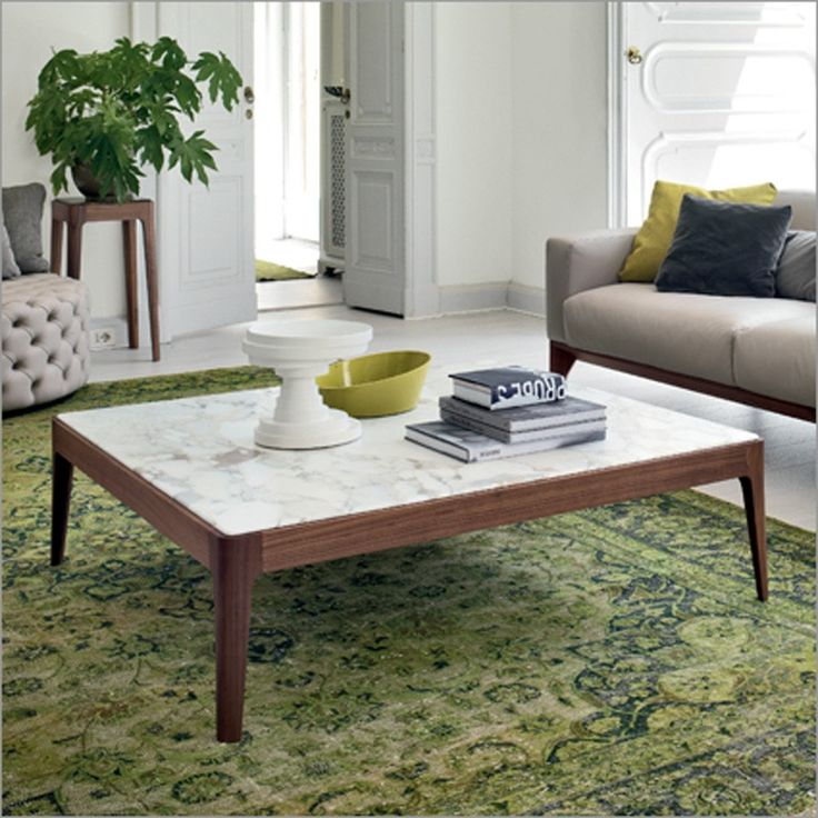 Porada Ziggy 6 Square Coffee Table | Marble Or Wood Top