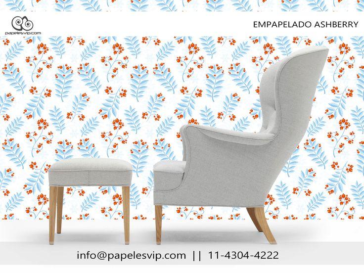 Papeles Vip empapelado floral Ashberry   #empapelado #papelesvip #diseños #personalizados #decoracion #deco #homedecor #revestimientos #paredes #wallpaper #interiores #interiordesign #decorar #empapelar #renovacion #interiores #vinilizado #lavable #empapelados #papeles #floral #papelespintados