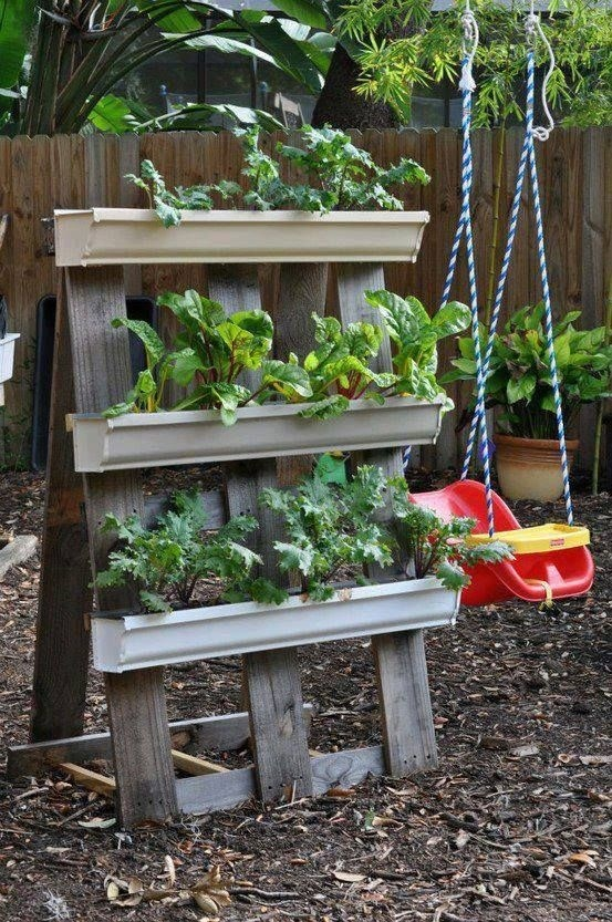 Best 20 Herb Garden Design 2017: 20 Best DIY Gutter Gardens Images On Pinterest