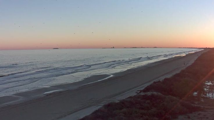 Our Bluewater Beach LIVE Webcam catches the beauty of our Texas Coast in Crystal Beach Texas as the Sunsets. With Galveston as a backdrop on clear days and nights it's a must see webcams.