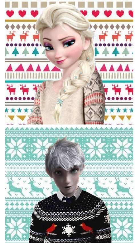 Elsa and Jack Frost <3