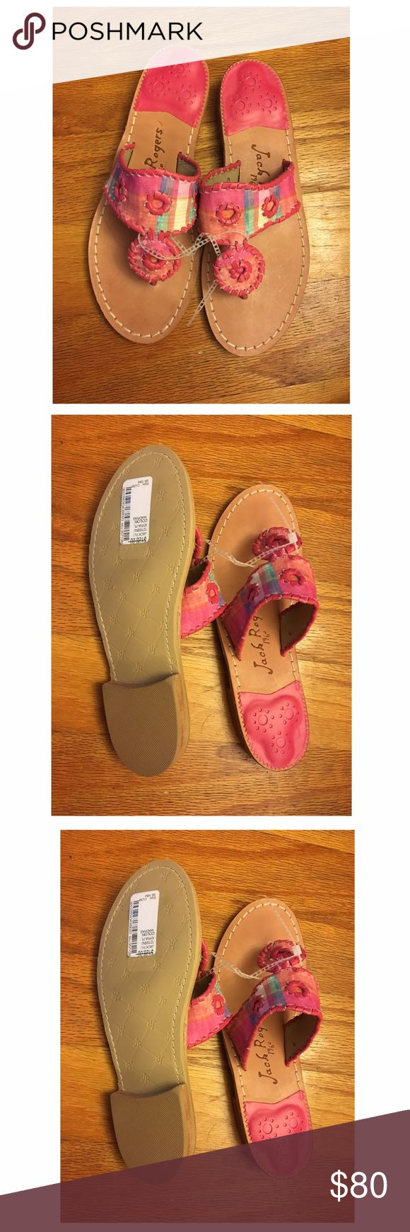 New Jack Rogers Sandals Size 6 New with tag. Never worn. Color: kyra plaid, madras. Box is not included. Jack Rogers Shoes Sandals