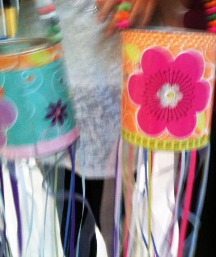 These colorful windsocks were created by a few of our talented young crafters.