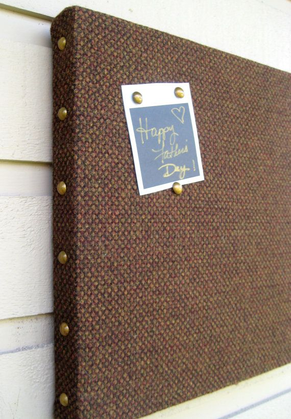 Mans Bulletin Board for Fathers Day Box frame by jensdreamdecor, $37.50