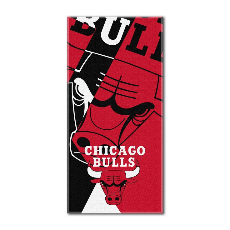 "Bulls National Basketball League, """"Puzzle"""" 34""""x 72"""" Over-sized Beach Towel"