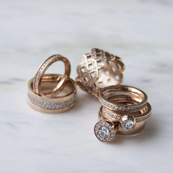 Rings from Ingnell Jewellery. Stainless steel. ingnelljewellery.com #rosegold #rose #jewelry #ring
