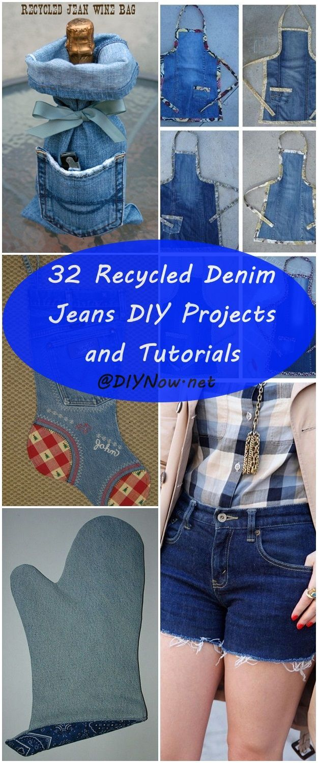 32 Recycled Denim Jeans DIY Projects and Tutorials