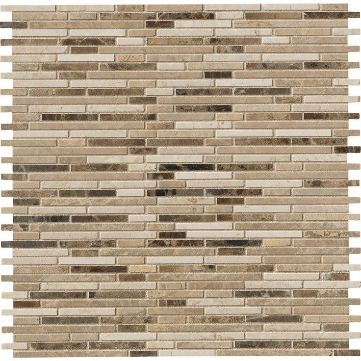 Ms International Cappuccino 12 In X 12 In Polished: MS International Emperador Blend Bamboo 12 In. X 12 In