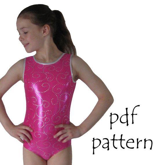 Leotards 1 pdf pattern gymnastics gym ballet dance girls sizes 2-14