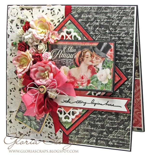 52 best images about Graphic 45 Mon AmourLe Romantique Cards on – Anonymous Valentine Card