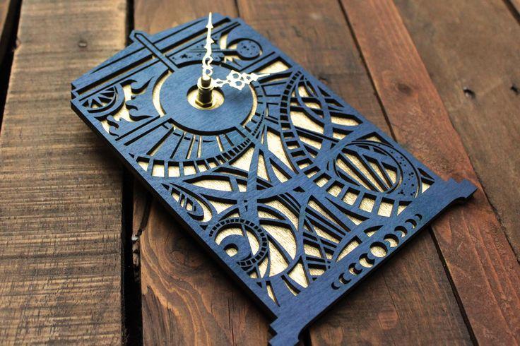 Doctor Who Clock | Timey Wimey TARDIS Clock | TARDIS Blue Wall Clock | Gallifreyan Clock | Doctor Who Gift by UnicornEmpirePrints on Etsy https://www.etsy.com/listing/167939381/doctor-who-clock-timey-wimey-tardis