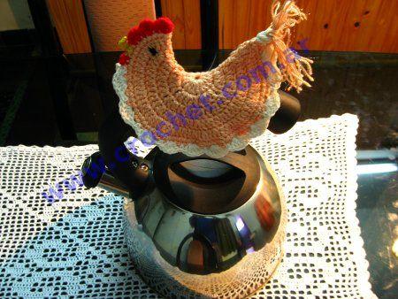 Agarradera Gallina tejida a crochet: Hook, Agarradera Gallina, Al Crochet, Gallina Tejida, Agarradera Crochet, De Gallina, Crochet Fabric, Crochet Beauty, Pot Holders