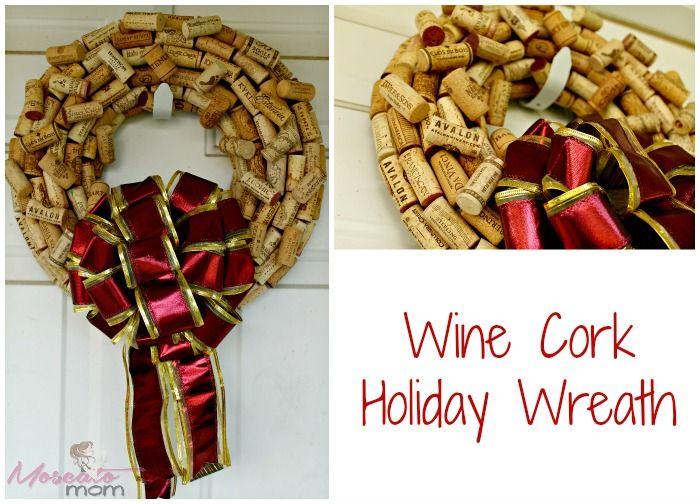 How to make a wine cork wreath she so crafty pinterest