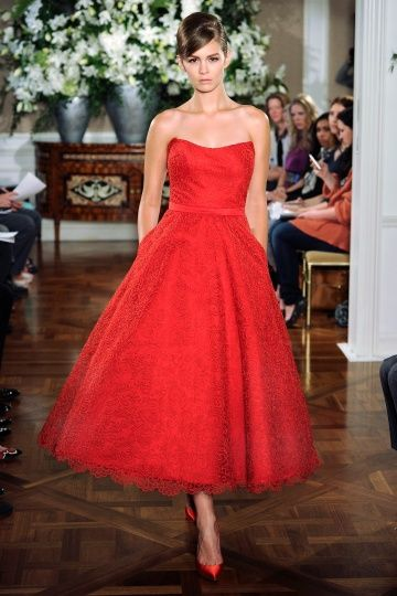 17 best images about tea length dresses on pinterest for Red tea length wedding dress