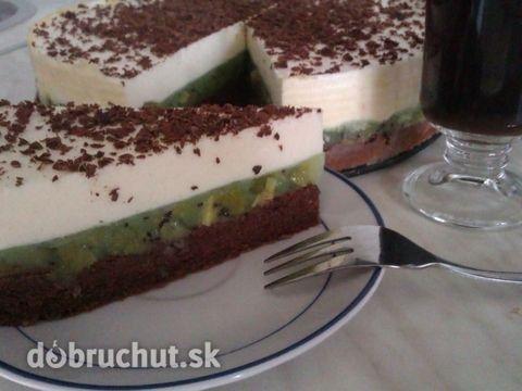Shrekov úsmev - kiwi rezy - Svieža torta nielen pre deti :-)