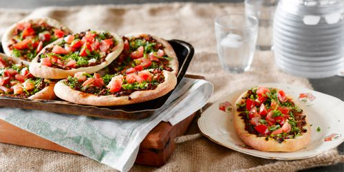 Lamb Pizza with Fresh Herbs