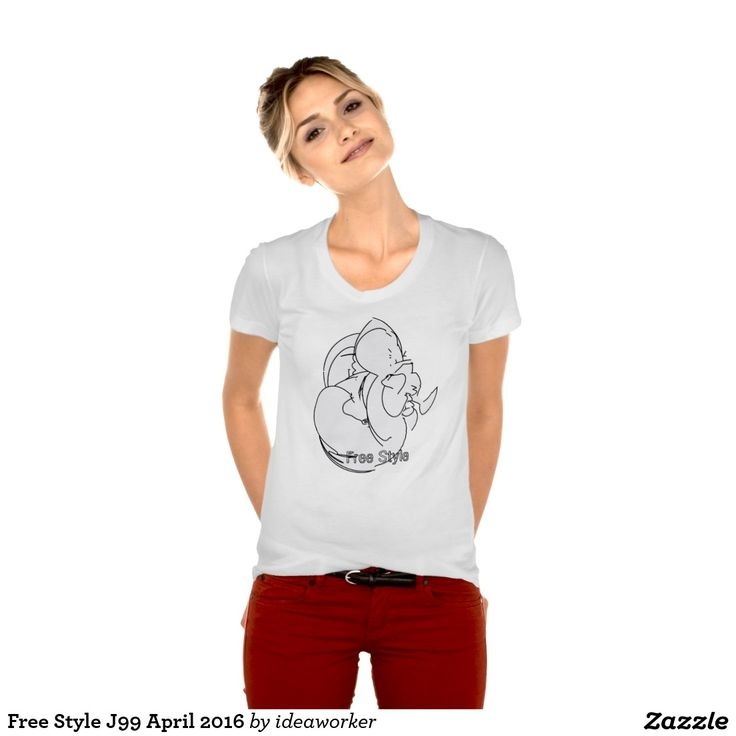 Free Style J99 Women's American Apparel Poly-Cotton Scoop Neck T-Shirt   #design #fashion #freestyle #women #tshirt