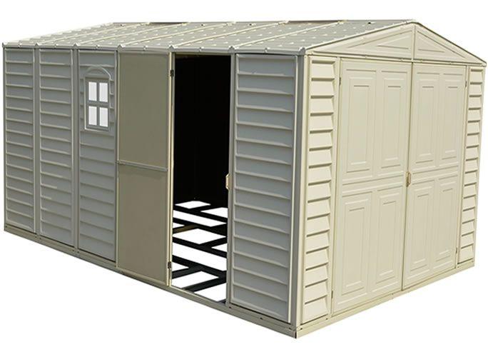 Duramax Sheds 10x15 Vinyl Storage Garage With Floor Kit 01016 Duramax Sheds Vinyl Storage Sheds Vinyl Storage