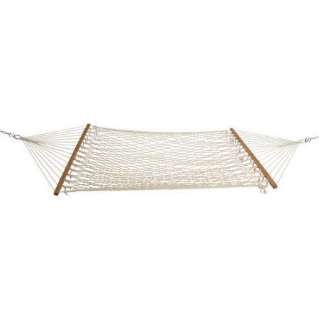 Castaway Hammocks Cotton Rope Hammock, White