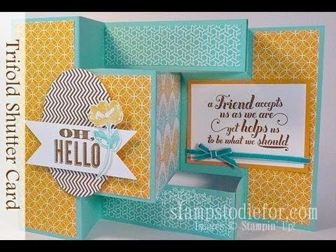 Best TriShutter Cards Images On   Cards Tri Fold