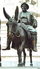Estatua de Sancho Panza en Madrid