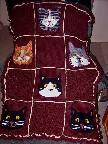 Ravelry: Sweet Kitty Afghan pattern by Cherie Marie Leck