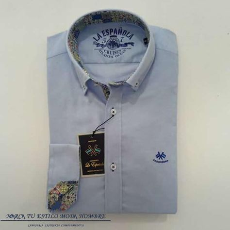 Camisa La Española Oxford Celeste