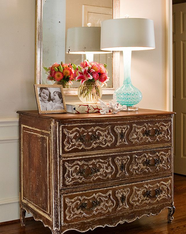 furniture for a foyer. foyer with distressed french dresser furniture for a