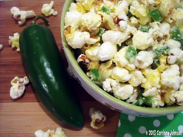 Jalapeno, Garlic And Parmesan Cheese Popcorn. By GoodVeg contributor CorrinnaJohnson. http://www.squidoo.com/jalapeno-garlic-and-parmesan-cheese-popcorn
