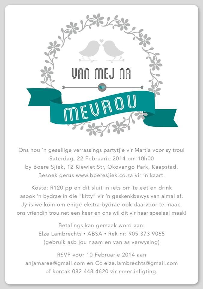 Kitchen Tea Or Bridal Shower Email Invitation Designed By Mercia M