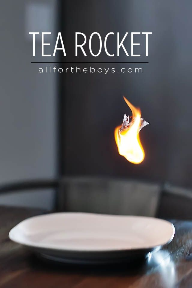 All for the Boys - Tea Rocket - fun science experiment!Kids Inspiration, Steve Spangler, All Modern Ideas, For Kids, Fun Science Experiments, Teas Rocket, Bags Rocket, Rocket Experiment, Teas Bags