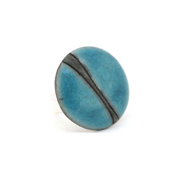Andreani - Bijoux - raku - Aubagne-Provence | Bague ronde Zen turquoise