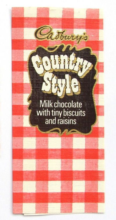Country Style chocolate. The gingham crunch!
