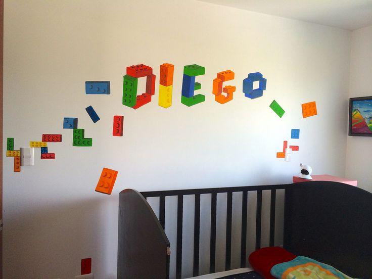 Decoraci n para cuarto de ni os lego habitacion pinterest - Decoracion de cuartos ...