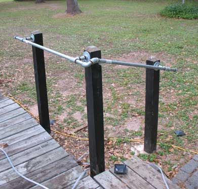 Install Pipe Handrail Diy Galvanized Metal Pipe