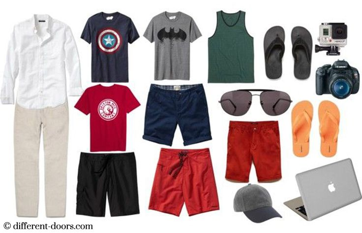 Travel Packing, Travel Checklist, What to pack for a beach holiday, Mens beach holiday outfits, Beach holiday Checklist