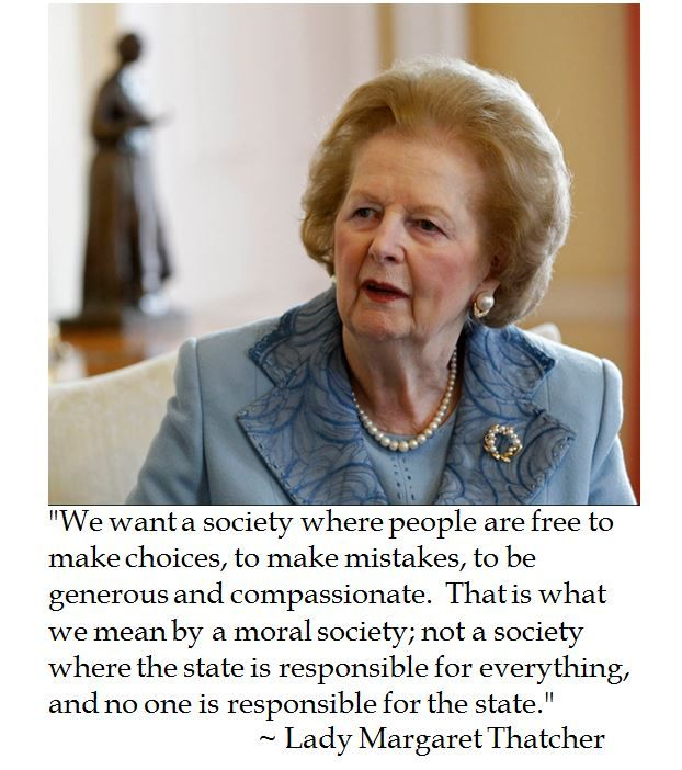 Margaret Thatcher on a Moral Society