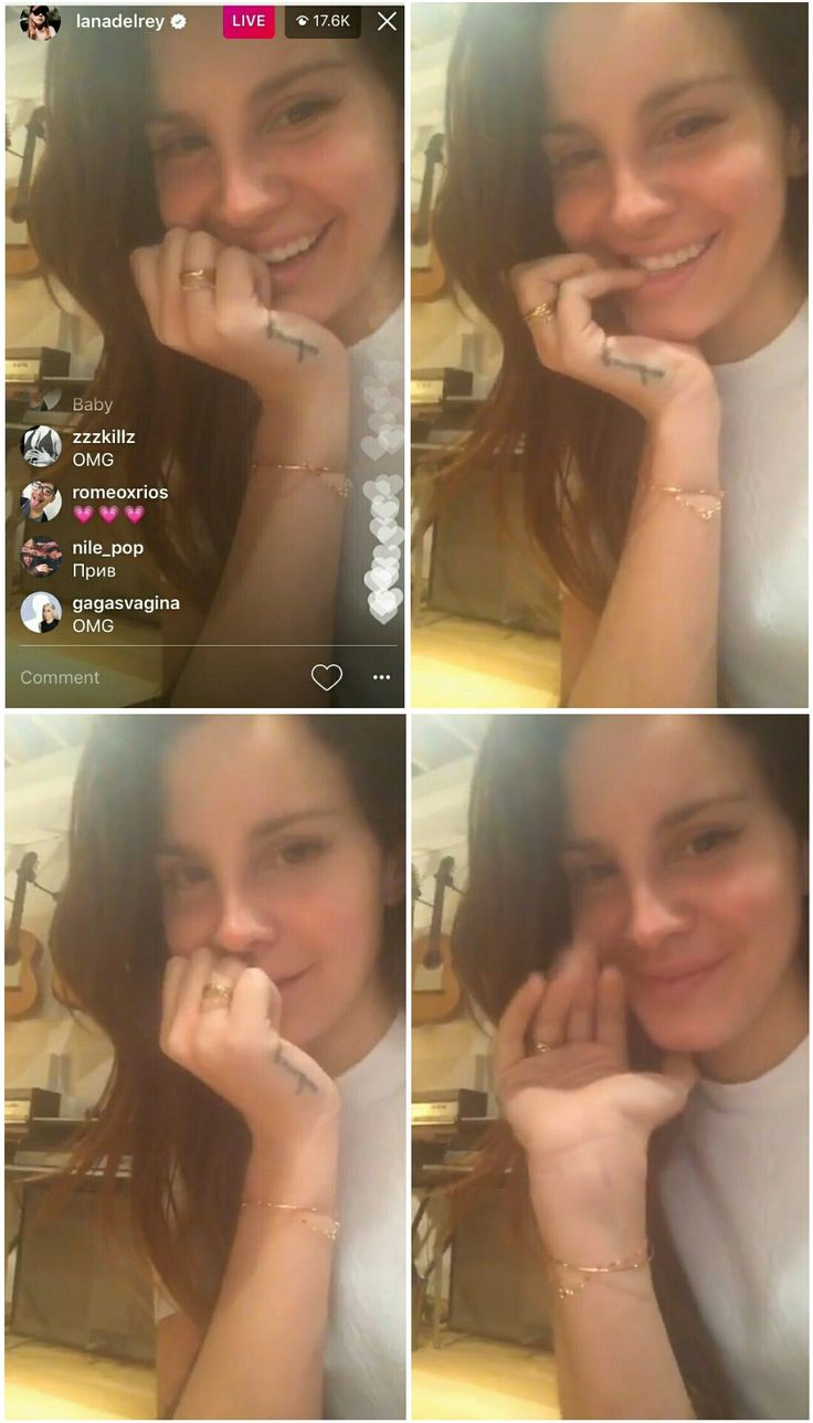 Lana Del Rey live on Instagram yesterday (Jan.7, 2017) #LDR