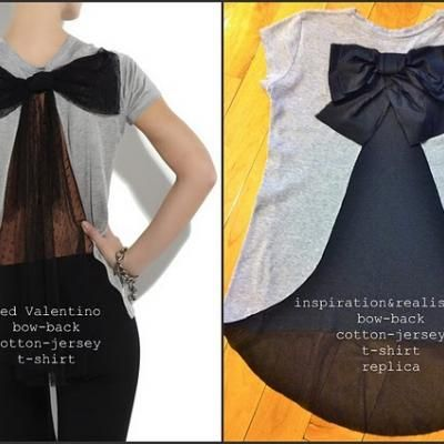 DIY-Bow on Back t-shirt