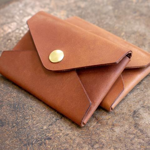 No-Stitch Leather Envelope Card Holder Acrylic Template Set  – Billfold wallet
