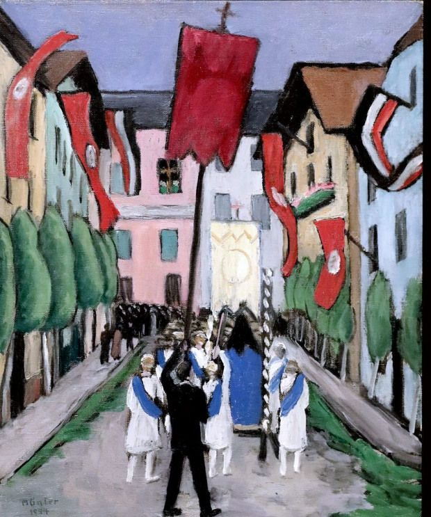 Gabriele Munter 1877 1962 Munich Procession In Murnau Procession A Murnau 1934musee D Art Moderne De Lou Gabriele Munter Wassily Kandinsky German Expressionism