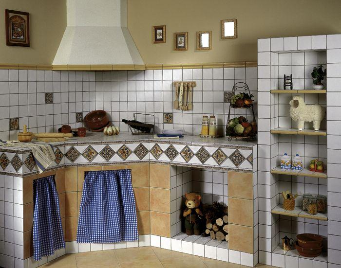 1000 ideas sobre cocinas rusticas de obra en pinterest for Azulejos antiguos para cocina
