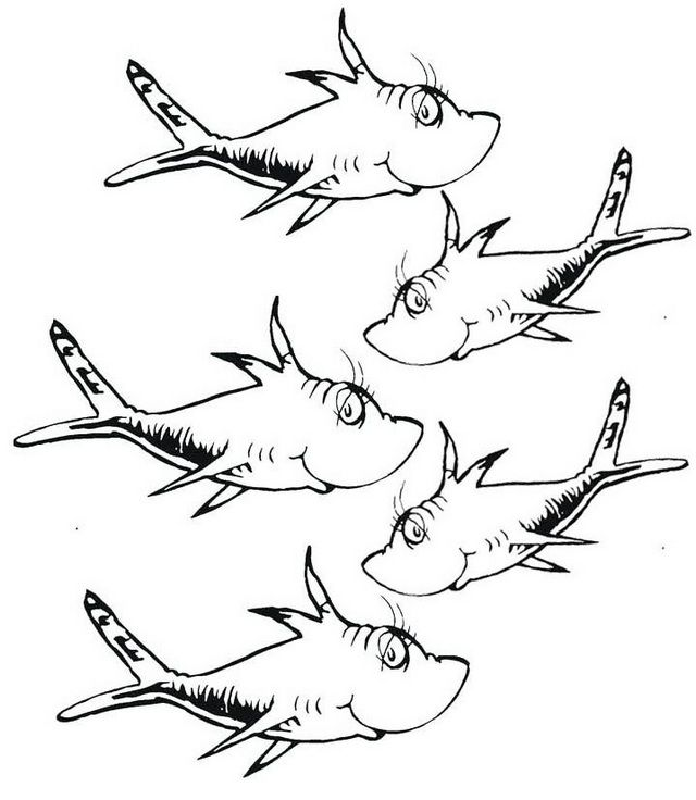 Best One Fish Two Fish Coloring Pages Printable In 2020 Fish Coloring Page Dr Seuss Coloring Pages Coloring Pages