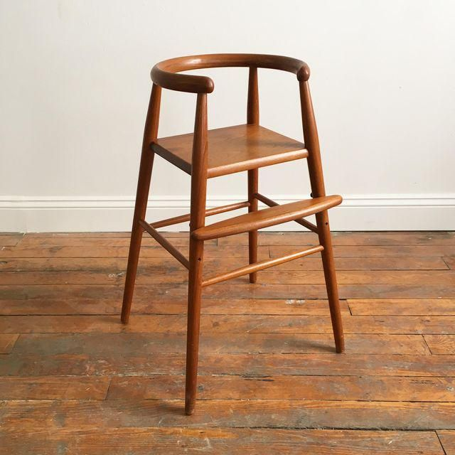 Image of Nanna Ditzel For Kolds Savvaerk Danish Modern Teak Adjustable Highchair