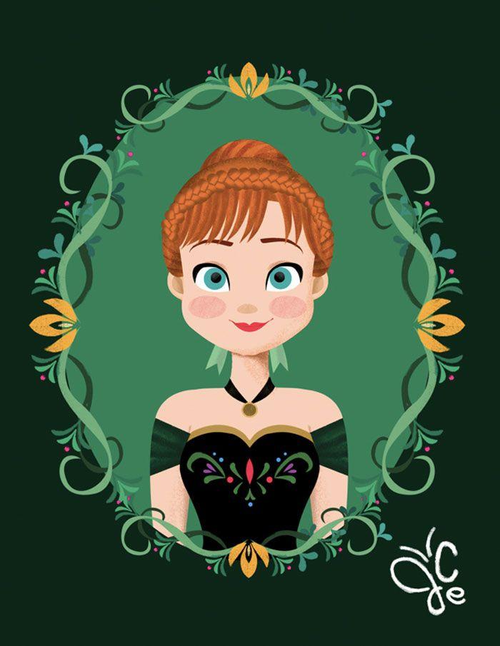 Princesas Disney em molduras
