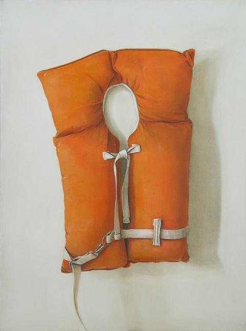Old Orange Life Jacket - reminds me of canoe rides on 7th lake